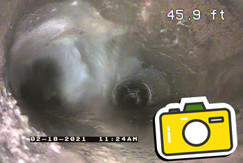 Portland camera video inspection of sewer and drain lines